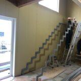 スチール階段の施工